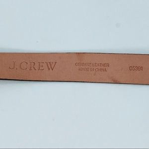J. Crew Accessories - J. Crew Black leather belt with gold buckle